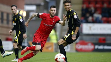 Leyton Orient midfielder Michael Collins in action on his debut against Crewe Alexandra (pic: Simon