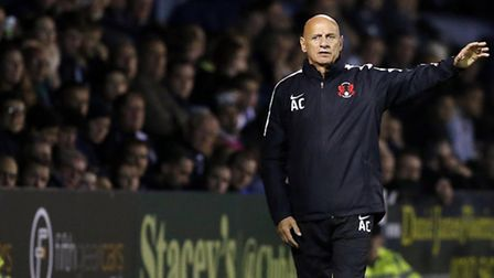 Leyton Orient manager Alberto Cavasin issues instructions (pic: Simon O'Connor).