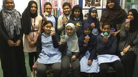 Reading 'buddies' from Bow's Central Foundation Secondary with children from Old Ford Primary