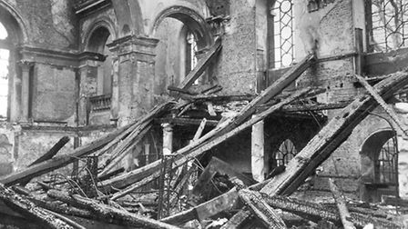 1940: St Matthew's Church in Bethnal Green destroyed in one of Lutfwaffe's first air raids