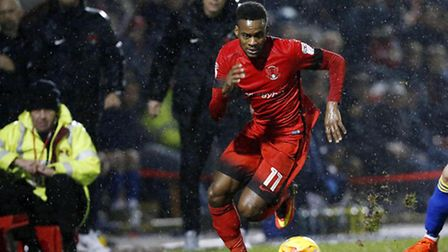 Leyton Orient winger Gavin Massey moves forward with the ball against Accrington Stanley (pic: Simon