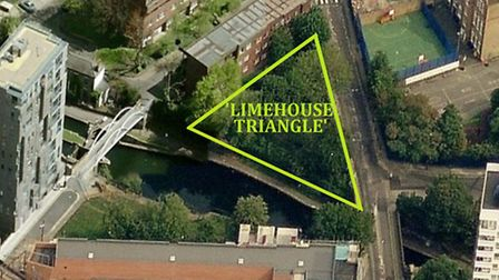The Limerhouse Triangle by the Regent's Canal