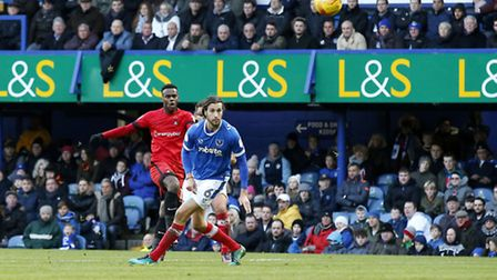 Gavin Massey lets fly to equalise for Leyton Orient at Portsmouth (pic Simon O'Connor)