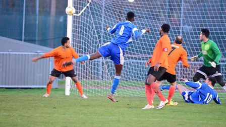 Action from the match between Tower Hamlets and Wadham Lodge (pic Tim Edwards)