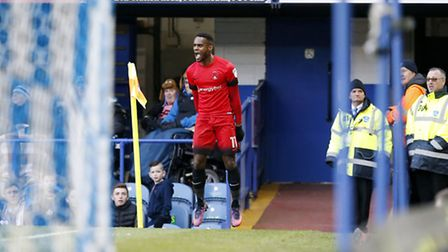 Gavin Massey celebrates after equalising for Leyton Orient at Portsmouth (pic: Simon O'Connor).