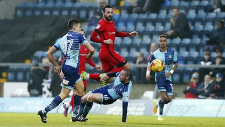 Leyton Orient captain Robbie Weir moves the ball forward against Wycombe Wanderers (pic: Simon O'Con
