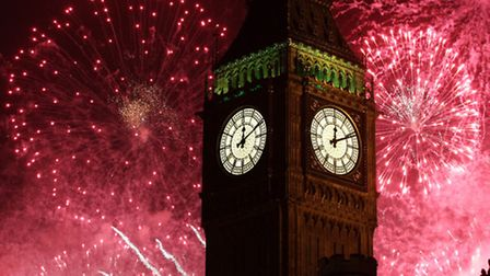 New Year's celebrations. Picture: PA