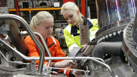 Girl apprentice recruited in London for a career in engineering