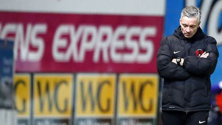 Leyton Orient boss Andy Edwards shows his disappointment (pic: Simon O'Connor).