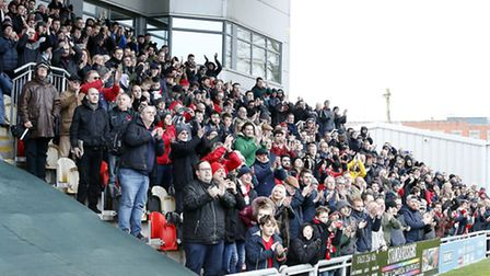 Leyton Orient fans show their support at Newport County (pic: Simon O'Connor).
