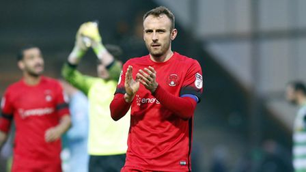 Leyton Orient vice-captain Liam Kelly applauds the travelling support at Yeovil Town (pic: Simon O'C