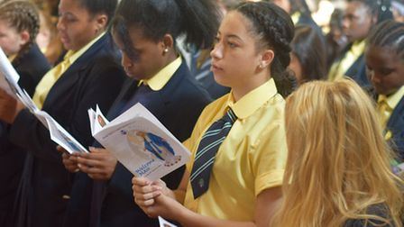Diocese Report... Stepney's Bishop Challoner school assembly