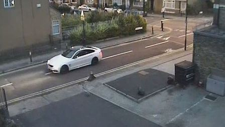 Detectives believe this car is connected to the shooting (Pic: Met Police)