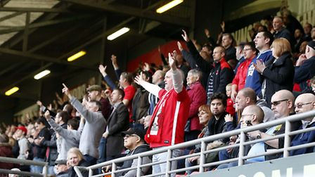 Leyton Orient fans get behind the team during Saturday's match with Grimsby Town (pic: Simon O'Conno