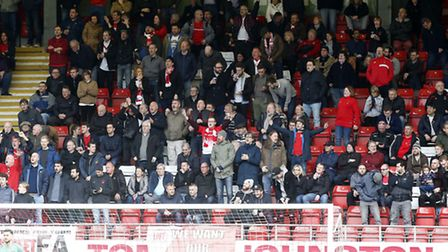 Leyton Orient supporters urge their team on against Doncaster Rovers (pic: Simon O'Connor).