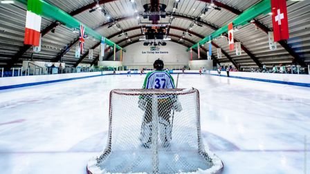 Lee Valley Lions goalie James Andrew looks on during play (pic Phil Hutchinson)