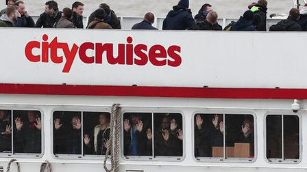 """'Hostages' aboard pleasure cruiser that's been """"hijacked"""" as part of Thames anti-terrorist exercise"""