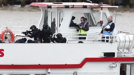 """Police marksmen secure """"hijacked"""" pleasure cruiser to release """"hostages"""" in Sunday's anti-terrorist"""