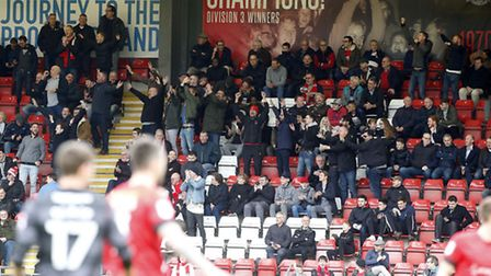 Leyton Orient fans get behind their team during Saturday's match with Doncaster Rovers (pic: Simon O