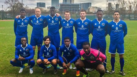 Sporting Bengal face the camera at Mile End Stadium (pic Sporting Bengal United)