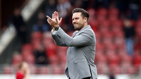 Leyton Orient manager Danny Webb applauds the O's supporters at Brisbane Road (pic: Simon O'Connor).