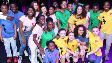 Bethnal Green's Young & Talented club in grand finals of Jack Petchey competition [photo: Mark Lees]