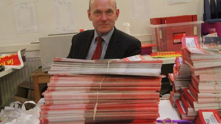 John Biggs at his campaign HQ in Bethnal Green when he won 2015 mayor election