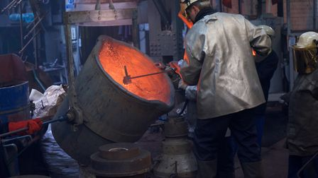 Cating the last bell at Whitechapel foundry
