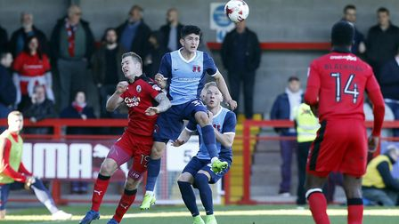 Leyton Orient youngster Steven Alzate heads the ball forward against Crawley Town (pic: Simon O'Conn
