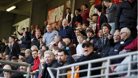 Leyton Orient fans show their frustration at Brisbane Road during Saturday's match against Wycombe W