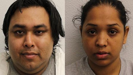 Mohammed Miah, 36, was found guilty of murder and Rebeka Nazmin, 32, was found guilty of allowing th