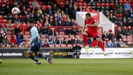 Leyton Orient attacker Josh Koroma looks to find the net against Wycombe Wanderers (pic: Simon O'Con