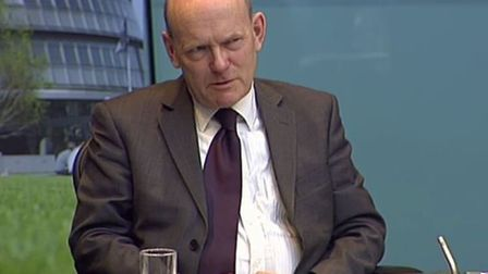 Tower Hamlets Mayor John Biggs giving evidence in February to London Assembly about corrupt 2014 ele