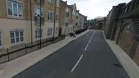 Murder investigation by railway arches at Eagling Close in Bow. Picture; GOOGLE