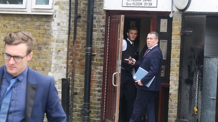 Scotland Yard Homocide Command detectives arrive at scene in Dora Street. Picture: MIKE BROOKE