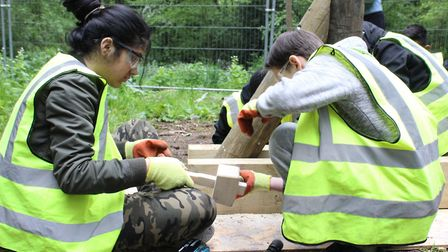 Learning teamwork through Toynbee Hall's 'Make It' programme. Picture: TOYNBEE HALL