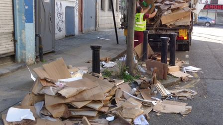 Caught on camera... flytipping in Stepney. Picture: LBTH