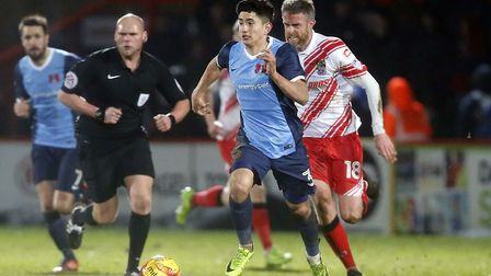 Steven Alzate in action for Leyton Orient at Stevenage on his professional debut (pic: Simon O'Conno