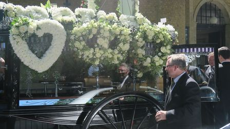 Funeral of Willie Malone in Wapping. Picture: MIKE BROOKE