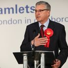 Jim Fitzpatrick (Labour) is re-elected in the Poplar & Limehouse seat in Tower Hamlets. Picture: Koi