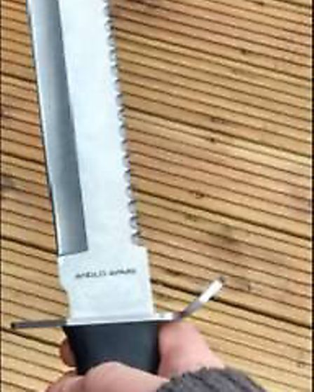 Detectives believe this was the knife that was used by Beadie. Picture: MET POLICE