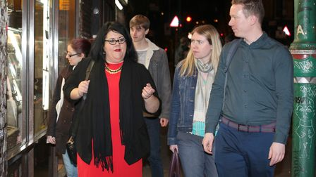 Night-time economy... London's 'night czar' Amy Lame on tour of Brick Lane on April 6 with Tower Ham