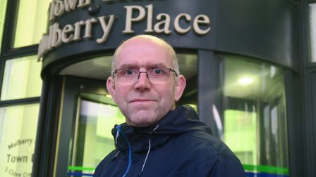 Glyn RobbIns... Move to set up Poplar planning forum by 'Spash' acrtion group. Picture: MIKE BROOKE