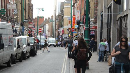Thriving Brick Lane where Tower Hamlets Council wants a night levy on booze outlets to help deal wit