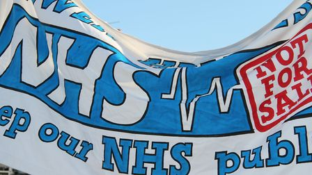 Campaign to save NHS from cuts. Picture: Mike Brooke.