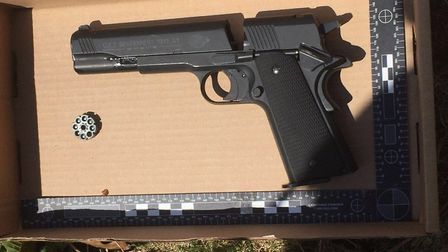 The gun was found by gardeners in Mile End. Picture: Twitter@MPSTowerHam