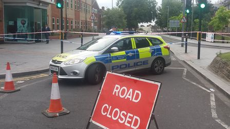 Crime scene... where man was found stabbed to death at Ripple Road in Barking. Picture: Ken Mears