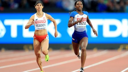 Great Britain's Bianca Williams in action in the women's 200m heats at the World Championships at th