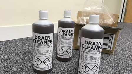 This drain unblocker bought on Amazon contains 96 per cent proof sulphuric acid - which can cause ho