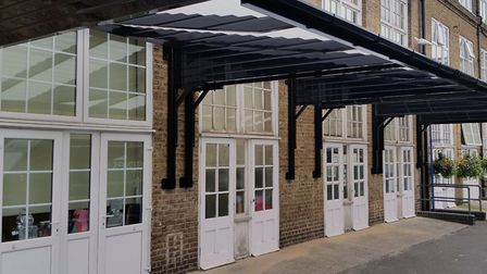 New canopy at Mile End's John Scurr Primary for children to learn outdoors. Picture: Connekt UK